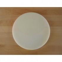 Tagliere in polietilene rotondo diametro 30 cm bianco - spessore 80 mm