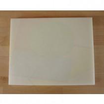 Tagliere in polietilene rettangolare 40X50 cm bianco - spessore 10 mm