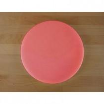 Tagliere in polietilene rotondo diametro 30 cm rosso - spessore 80 mm
