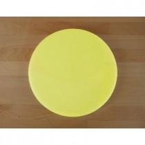 Tagliere in polietilene rotondo diametro 30 cm giallo - spessore 80 mm