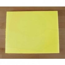 Tagliere in polietilene rettangolare 40X50 cm giallo - spessore 10 mm