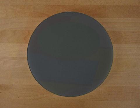 Tagliere in polietilene rotondo diametro 30 cm nero effetto ardesia - spessore 30 mm