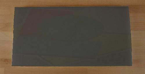 Tagliere in polietilene rettangolare 40X80 cm nero effetto ardesia - spessore 80 mm