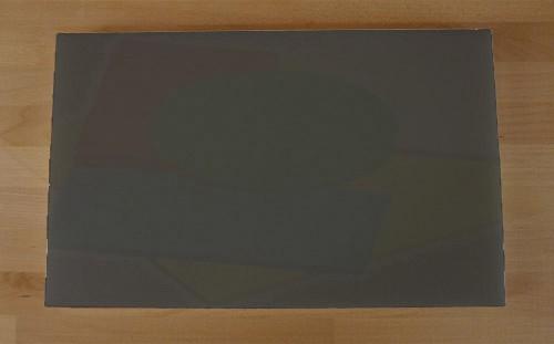 Tagliere in polietilene rettangolare 50X80 cm nero effetto ardesia - spessore 25 mm
