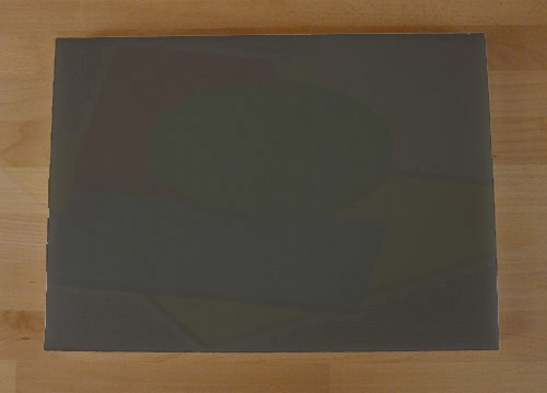 Tagliere in polietilene rettangolare 50X70 cm nero effetto ardesia - spessore 80 mm