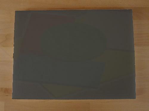 Tagliere in polietilene rettangolare 30X40 cm nero effetto ardesia - spessore 20 mm