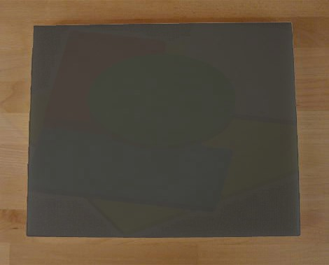 Tagliere in polietilene rettangolare 40X50 cm nero effetto ardesia - spessore 15 mm