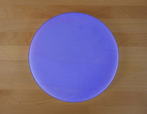 Tagliere in polietilene rotondo diametro 30 cm blu - spessore 15 mm
