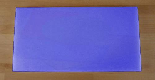 Tagliere in polietilene rettangolare 40X80 cm blu - spessore 80 mm
