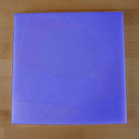Tagliere in polietilene quadrato 50X50 cm blu - spessore 40 mm