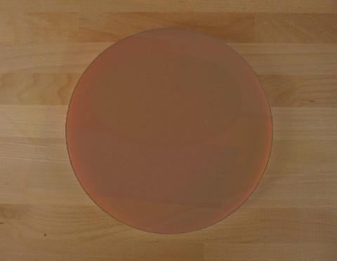 Tagliere in polietilene rotondo diametro 40 cm marrone - spessore 30 mm