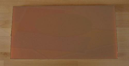 Tagliere in polietilene rettangolare 40X80 cm marrone - spessore 30 mm