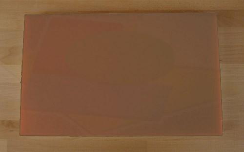 Tagliere in polietilene rettangolare 50X80 cm marrone - spessore 15 mm