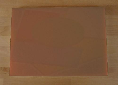 Tagliere in polietilene rettangolare 50X70 cm marrone - spessore 50 mm