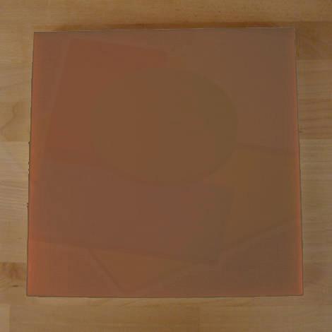 Tagliere in polietilene quadrato 50X50 cm marrone - spessore 40 mm