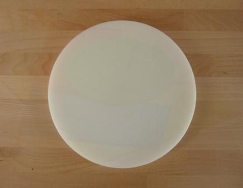 Tagliere in polietilene rotondo diametro 30 cm bianco - spessore 50 mm
