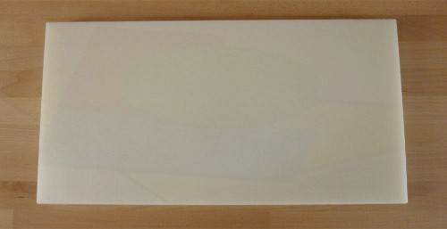 Tagliere in polietilene rettangolare 40X80 cm bianco - spessore 30 mm