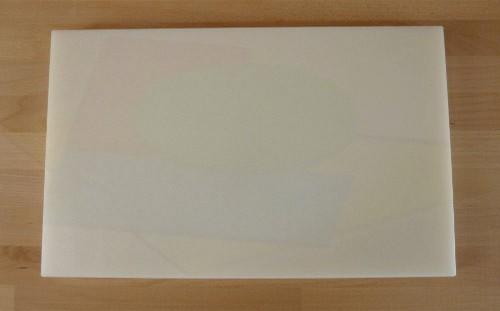 Tagliere in polietilene rettangolare 50X80 cm bianco - spessore 60 mm