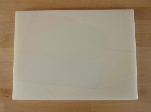 Tagliere in polietilene rettangolare 30X40 cm bianco - spessore 40 mm