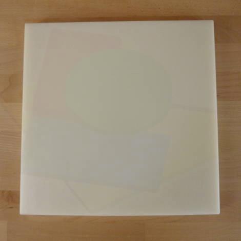 Tagliere in polietilene quadrato 50X50 cm bianco - spessore 15 mm