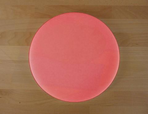 Tagliere in polietilene rotondo diametro 50 cm rosso - spessore 10 mm