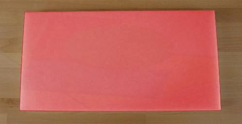 Tagliere in polietilene rettangolare 40X80 cm rosso - spessore 80 mm