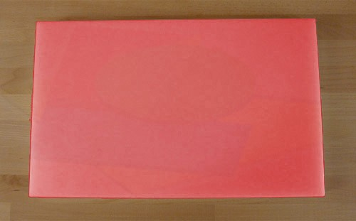 Tagliere in polietilene rettangolare 50X80 cm rosso - spessore 10 mm