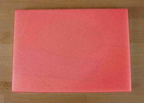 Tagliere in polietilene rettangolare 50X70 cm rosso - spessore 50 mm