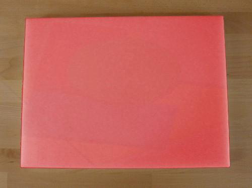 Tagliere in polietilene rettangolare 30X40 cm rosso - spessore 25 mm