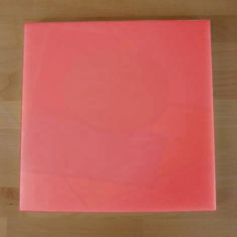 Tagliere in polietilene quadrato 50X50 cm rosso - spessore 15 mm