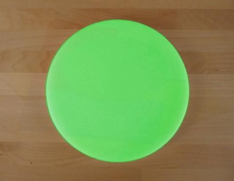 Tagliere in polietilene rotondo diametro 30 cm verde - spessore 40 mm