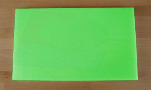 Tagliere in polietilene rettangolare 30X50 cm verde - spessore 10 mm