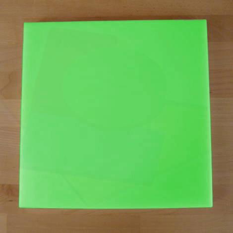 Tagliere in polietilene quadrato 40X40 cm verde - spessore 15 mm