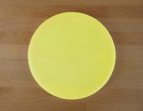 Tagliere in polietilene rotondo diametro 40 cm giallo - spessore 60 mm