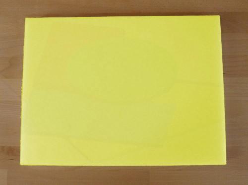 Tagliere in polietilene rettangolare 30X40 cm giallo - spessore 50 mm
