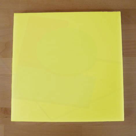 Tagliere in polietilene quadrato 40X40 cm giallo - spessore 60 mm