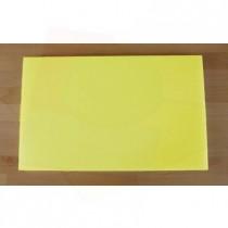 Tagliere in polietilene rettangolare 50X80 cm giallo - spessore 60 mm