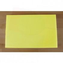 Tagliere in polietilene rettangolare 40X60 cm giallo - spessore 25 mm